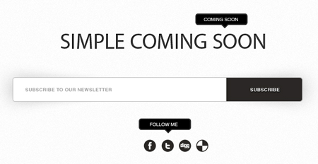 15 Free Coming Soon Page Template Psd