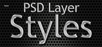 Free Photoshop Layer Styles: 10 Metal Text Effects