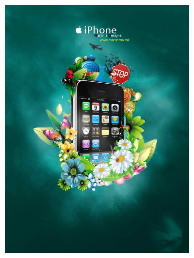 20 Stunning Mobile Advertisement Inspired By Nature