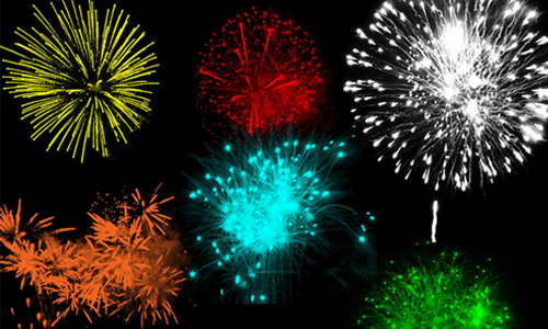 25 Sets Of Free Fireworks Brushes For Photoshop
