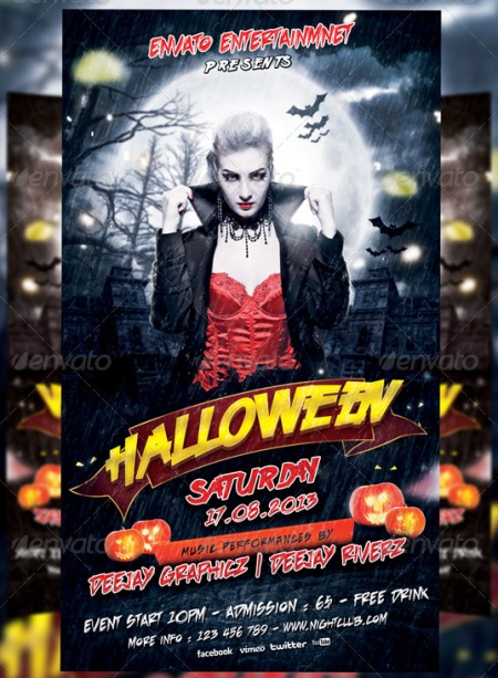 20 Halloween Flyer Templates For Party Events