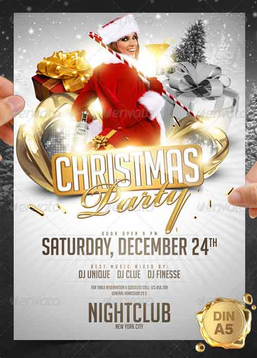 20 Christmas Flyer Templates For Christmas Party Events