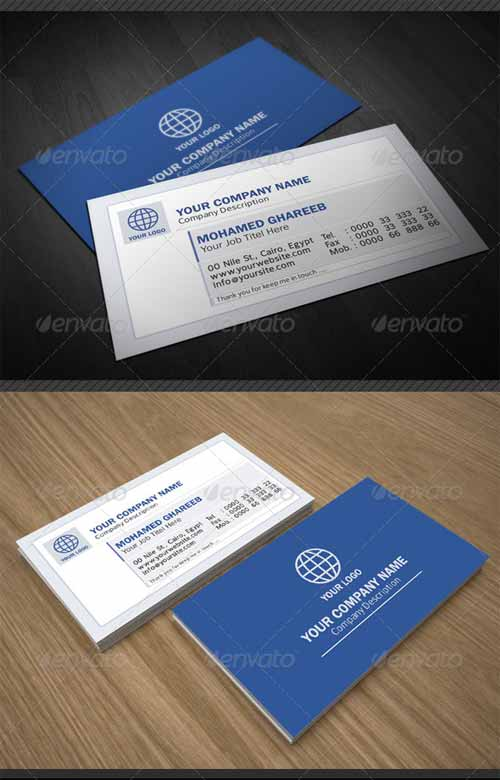 Creative Facebook Status Business Card