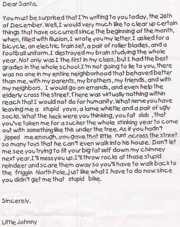 Hilarious Christmas Letters.Christmas Letter To Santa Claus 25 Funny Ideas