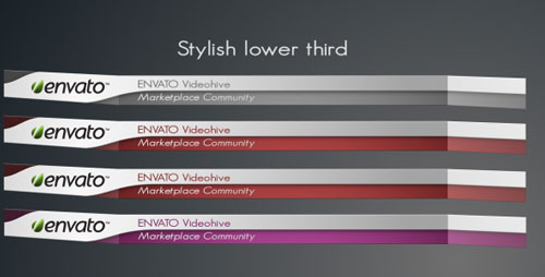 20 Professional After Effects Lower Third Templates