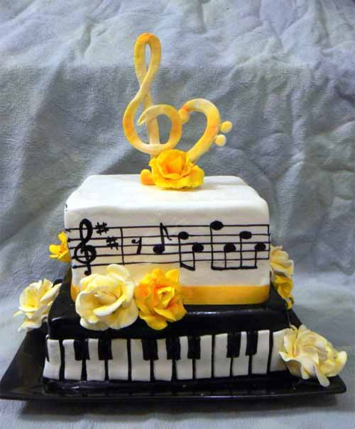 Strange 20 Mouthwatering Ideas For Music Cake Designs Funny Birthday Cards Online Alyptdamsfinfo