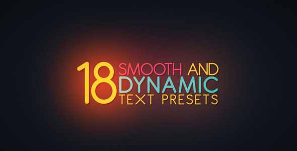 18 Smooth Dynamic Text Presets