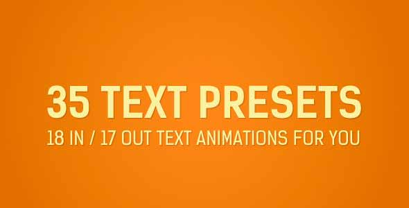Adobe after effects cs4 animation presets free