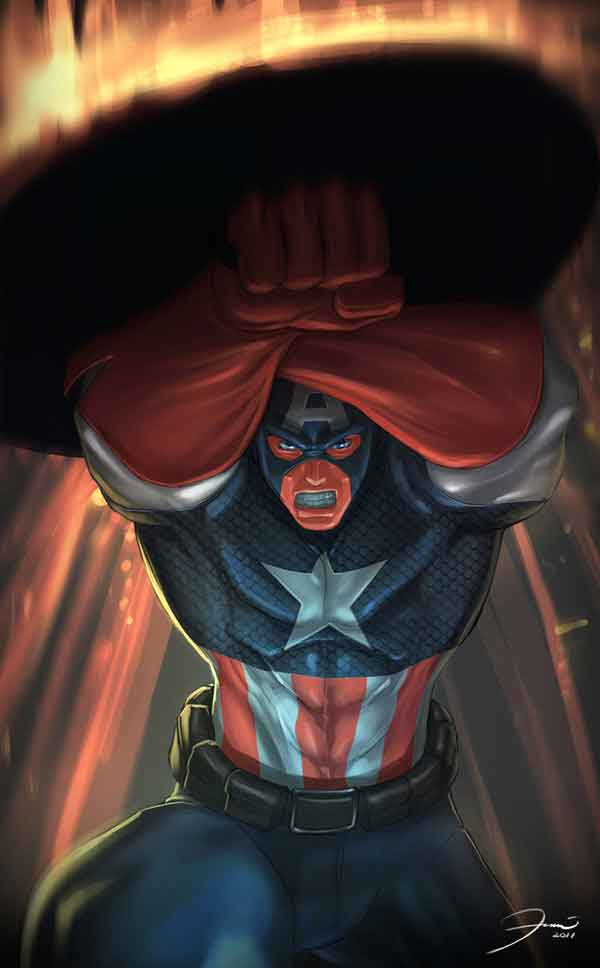 A Collection of Captain America Artworks and Illustrations