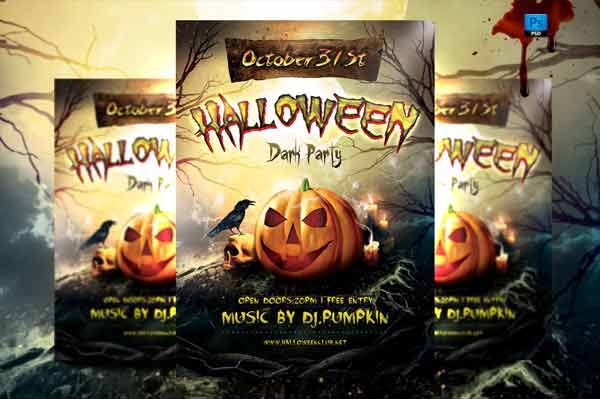 a set of halloween flyer design templates for 2014