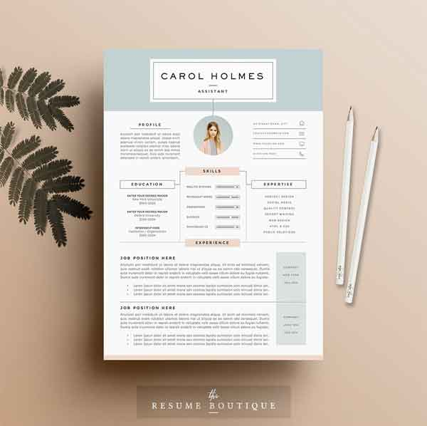 20 feminine resume templates for classy career girls