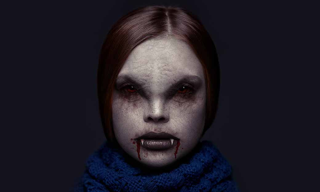 Photoshop Action of the Day: Vampire Face Photo Effect