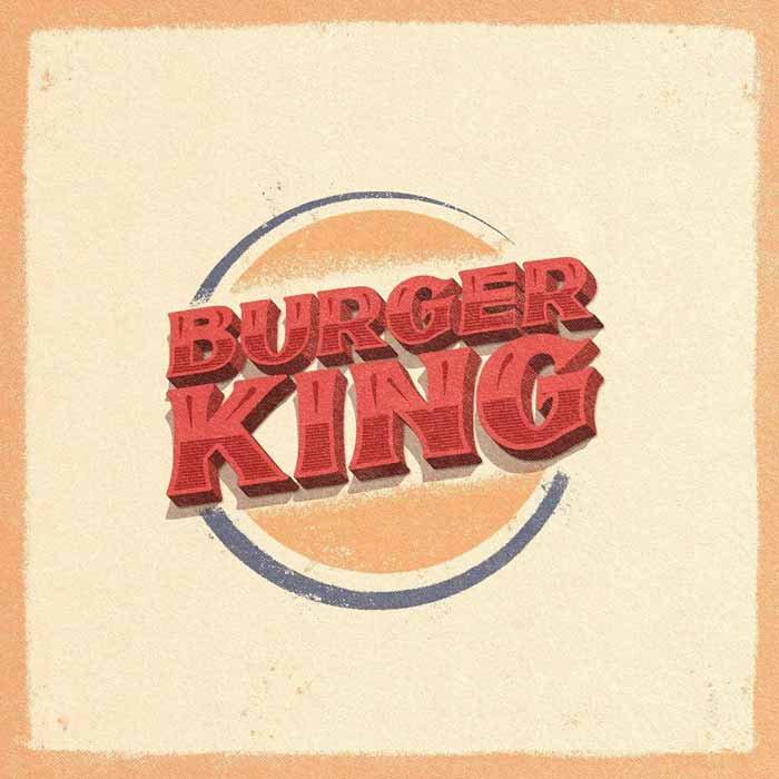 Vintage Burger King Logo Design